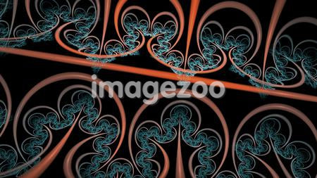Blue and orange abstract image