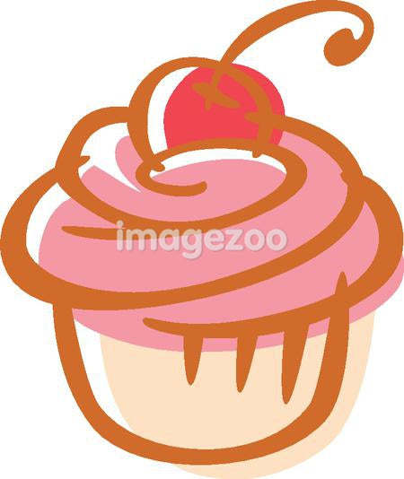 Drawing of a cupcake