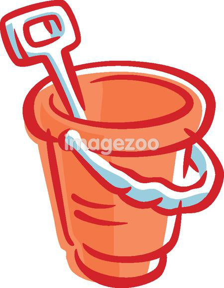 Drawing of a bucket with a spade