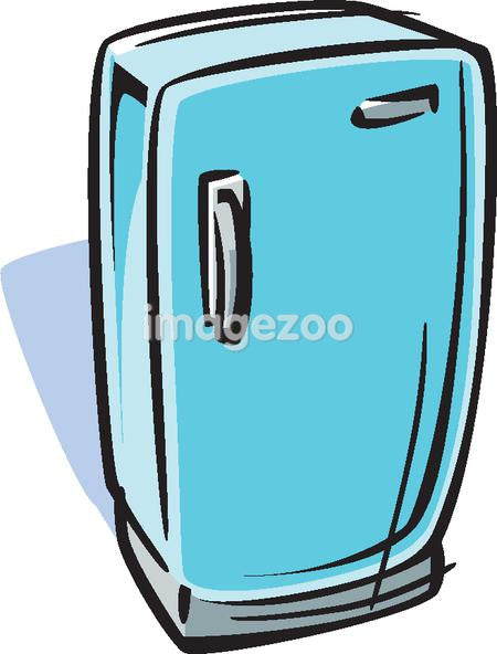 Cartoon drawing of a refrigerator