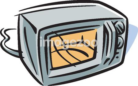 Drawing of a microwave oven