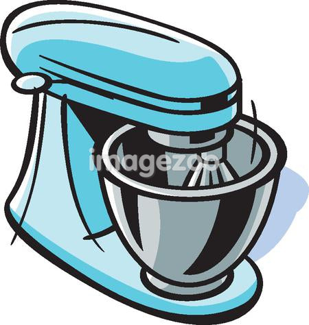 Drawing of a stand mixer