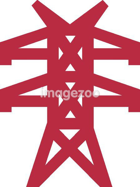 Drawing of an electrical tower