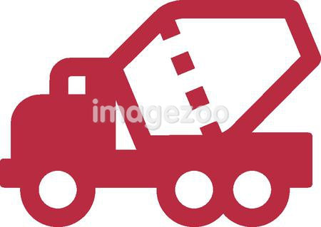 An illustration of a concrete truck