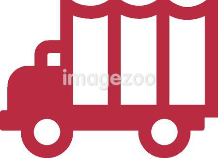 An illustration of a red truck