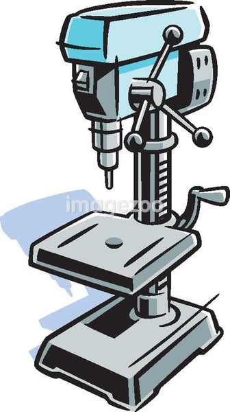 Picture of a drill press