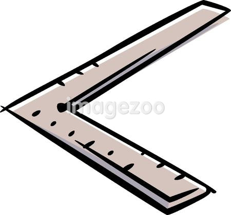 A right angle ruler