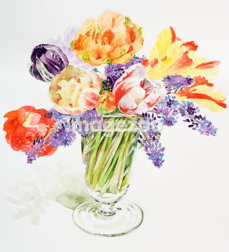 A vase filled with colorful flowers