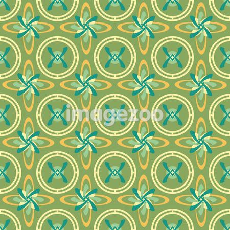 Green, yellow, and orange pattern