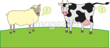 Sheep and cows producing methane gas