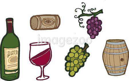 Various wine icons