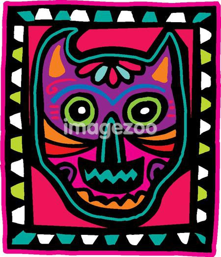 Pink and purple skull