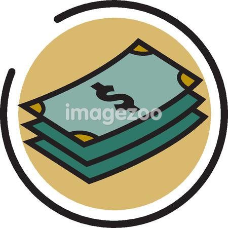 Illustration of a stack of dollar bils