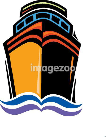 Illustration of a shipping vessel