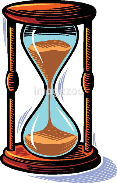 Illustration of an hourglass