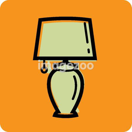 Illustration of a lamp on an orange background