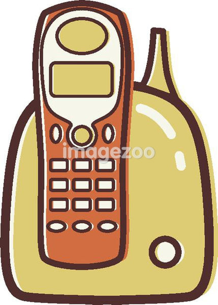 Illustration of a cordless phone