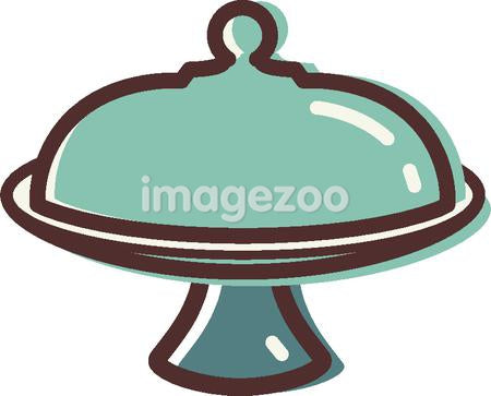 Illustration of a cake plate