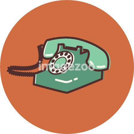 Illustration of a phone on an orange background