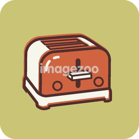 Illustration of an orange retro toaster