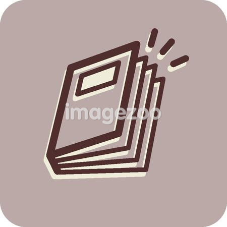 Illustration of a book on a purple background