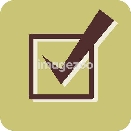 Illustration of a checkmark in a checkbox
