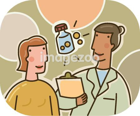 A woman talking to her physician about prescriptions