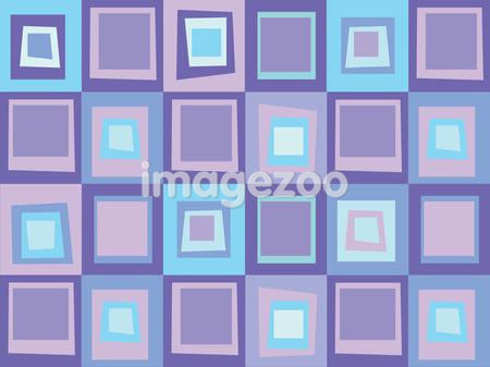 A pattern of purple and blue tiles
