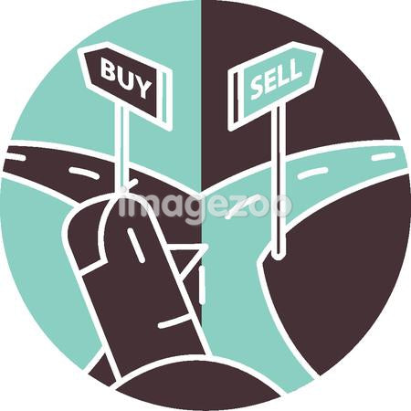 A cross roads of buy and sell