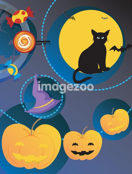 A Halloween collage