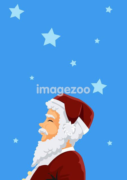A portrait of Santa Claus