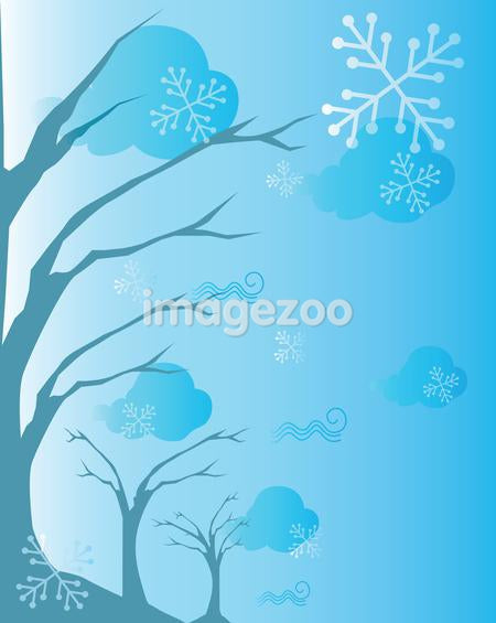 A tree and snowflake background