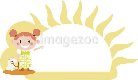 A girl pointing to the sun