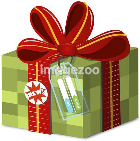 A checkered gift box with a To and From tag