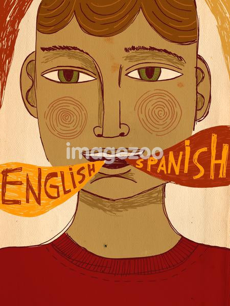 A bilingual man speaking Spanish and English