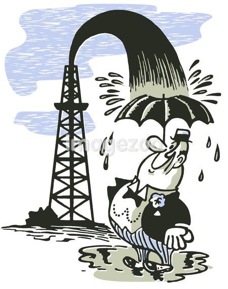 An illustration of a stereotypical oil merchant