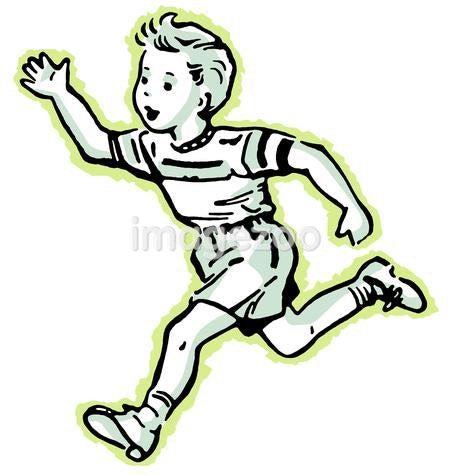 A young boy running