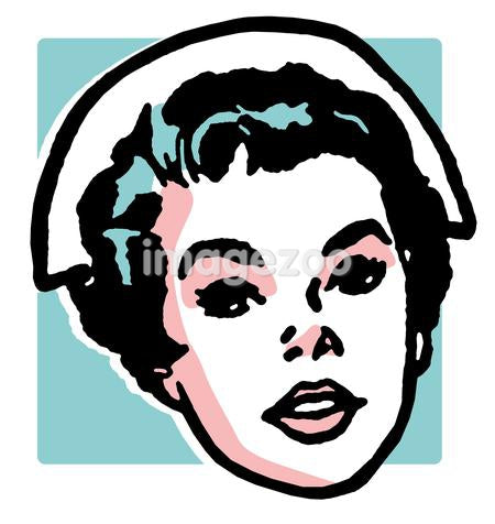 A vintage portrait of a nurse