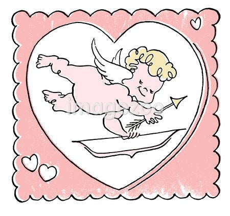 A cartoon illustration of a Valentine