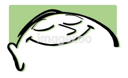 A cartoon style line drawing of a happy looking man