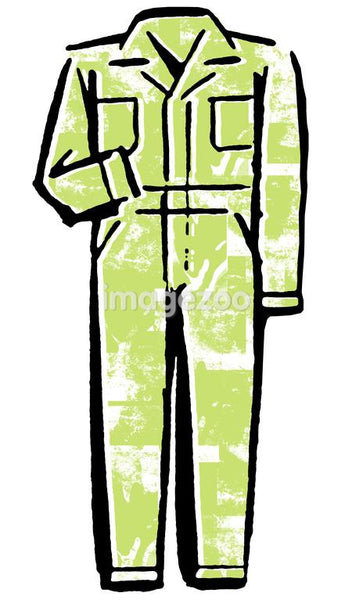 A green jumpsuit