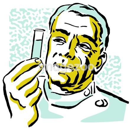 A portrait of a Scientist Holding a test tube