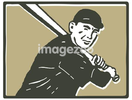 A graphical portrait of a baseball player