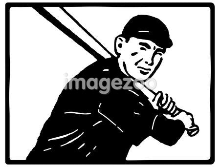 A black and white version of a graphical portrait of a baseball player