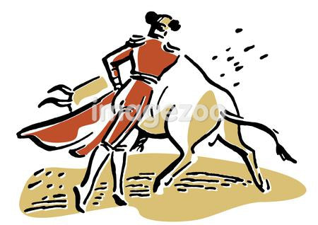An illustration of a bull fighter