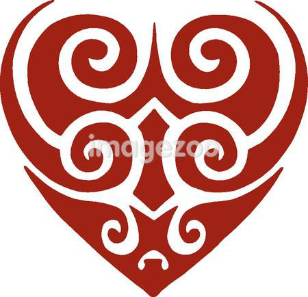 A tribal stencil of a heart