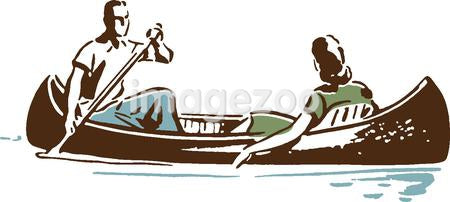Couple in canoe