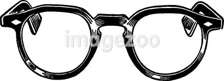 A black and white version of a pair of reading glasses