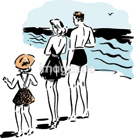 A family at the beach