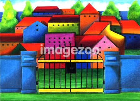 Illustration of a gated community